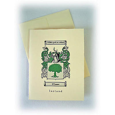 Personalized Coat of Arms Note Cards - Set of 12