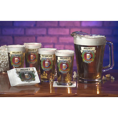 Personalized Neighborhood Pub 16 oz. Mixer Glasses - Set of 4
