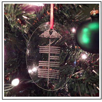 "Irish Christmas - Ogham ""Yule"" Ornament"