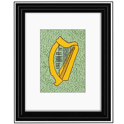 "Ogham ""Music"" Framed Print"
