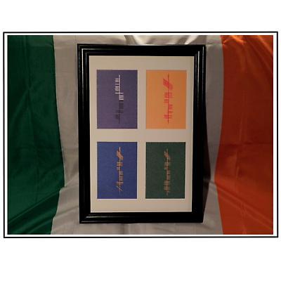Ogham Four Provinces of Ireland Framed Print
