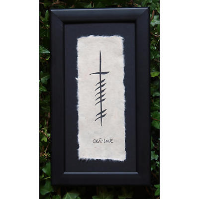 "Ogham Wish ""Love"" Framed Wall Hanging"