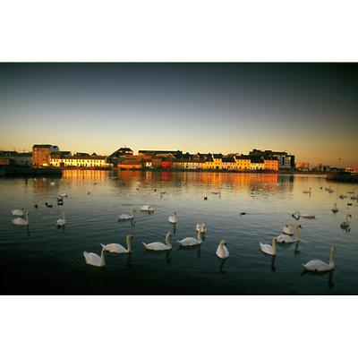 On the River Corrib Galway Photographic Print