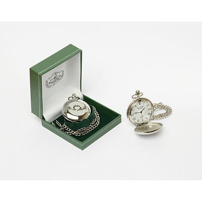 Irish Watch -  Mens Claddagh Pocket Watch Pewter