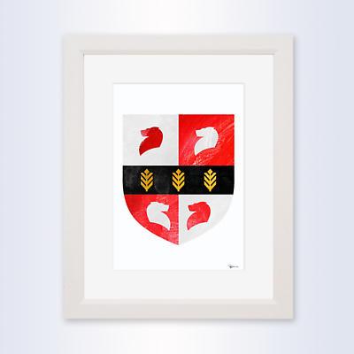Irish Coat of Arms - Framed Single Crest