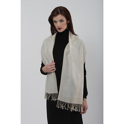 100% Wool Scarf by Patrick Francis - White