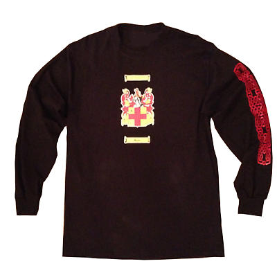 Personalized Coat of Arms Black Long Sleeve T-Shirt