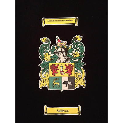 Personalized Coat of Arms Black T-Shirt