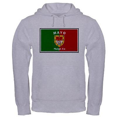 Irish Sweatshirt - Irish County Hooded Sweatshirt Full Chest - Grey