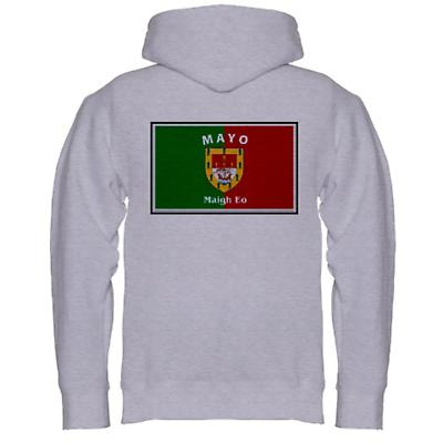 Irish Sweatshirt - Irish County Hooded Sweatshirt Left Chest - Grey
