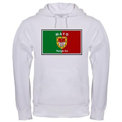 Irish Sweatshirt - Irish County Hooded Sweatshirt Full Chest - White