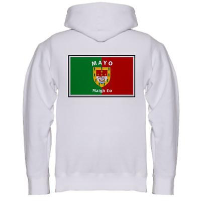 Irish Sweatshirt - Irish County Hooded Sweatshirt Left Chest - White
