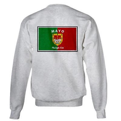 Irish Sweatshirt - Irish County Sweatshirt Left Chest - Grey