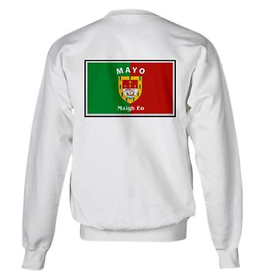 Irish Sweatshirt - Irish County Sweatshirt Left Chest - White