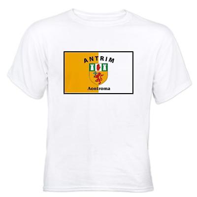 Irish T-Shirt - Irish County T-Shirt Full Chest - White