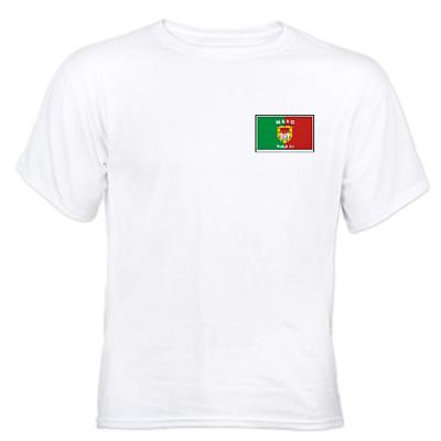 Irish T-Shirt - Irish County T-Shirt  Left Chest - White