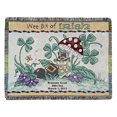 Personalized Wee Bit of Irish Throw