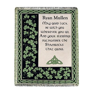 Personalized Irish Luck Throw