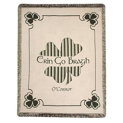 Personalized Erin Go Bragh Throw