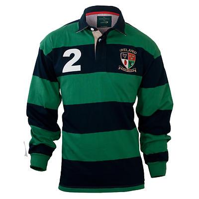 Lansdowne Green & Navy Heritage Rugby Shirt