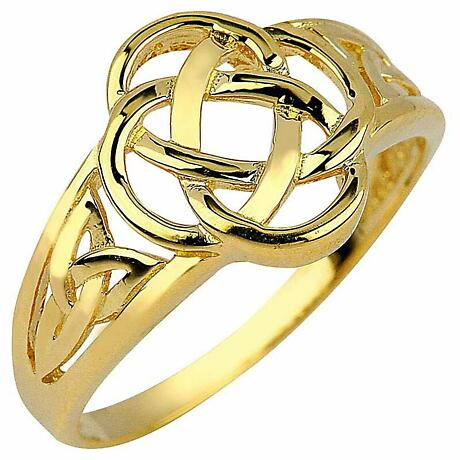 Trinity Knot Ring - Ladies Yellow Gold Trinity Knot Ring