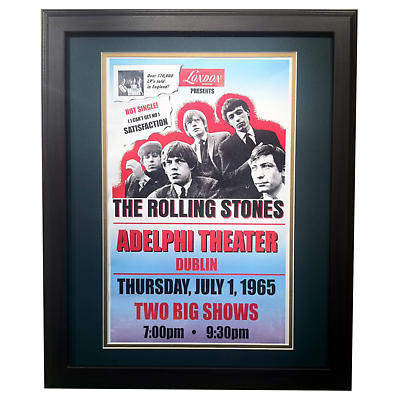 The Rolling Stones Dublin Adelphi Theater - Matted and Framed Print