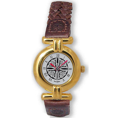 Ladies Celtic Knot Watch - Gold Plated 'Rosemerta'
