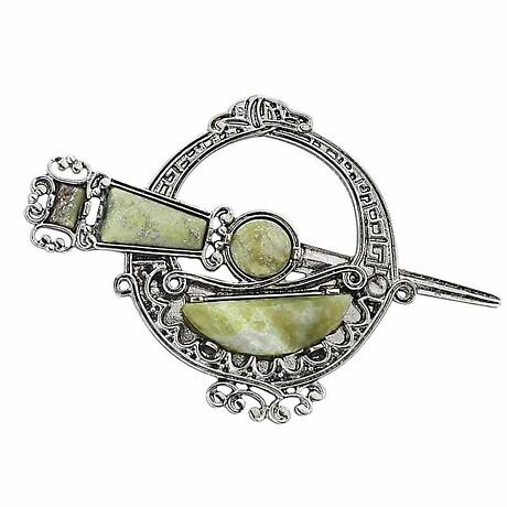 Celtic Brooch - Tara Brooch with Connemara Marble