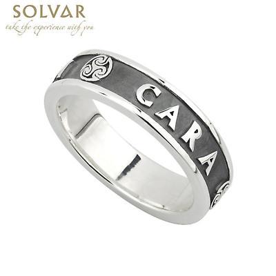 Irish Ring - Ladies Oxidized Sterling Silver Mo Anam Cara Ring
