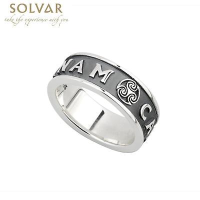 Irish Ring - Mens Oxidized Sterling Silver Mo Anam Cara Ring