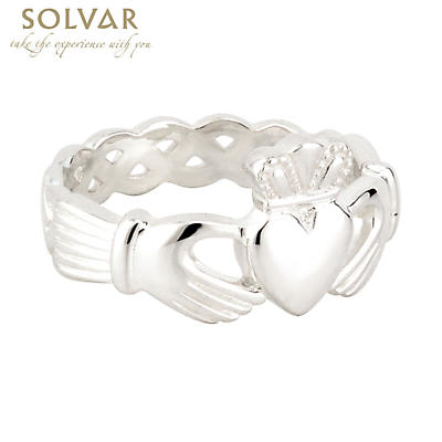 Claddagh Ring - Men's Sterling Silver Claddagh Weave
