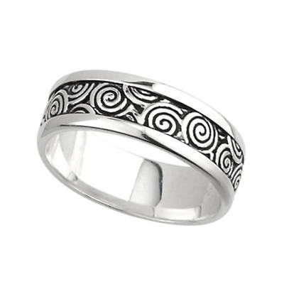 Irish Ring - Men's Sterling Silver Spiral