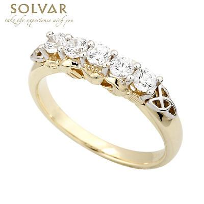 Claddagh Ring - 10k Gold CZ Claddagh Eternity Ring