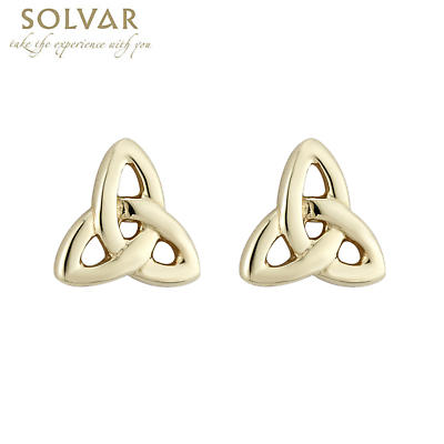 14k Yellow Gold Trinity Knot Earrings - Small
