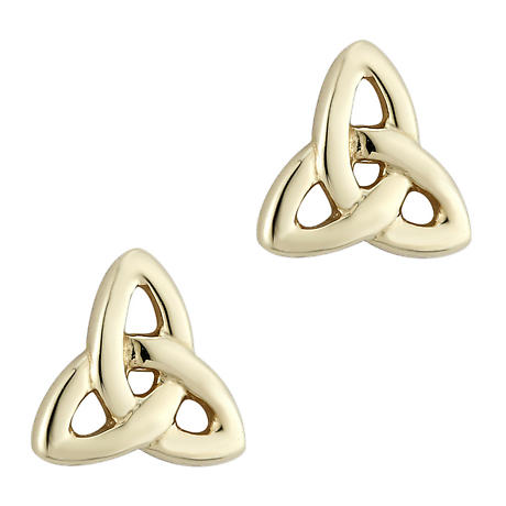 14k Yellow Gold Trinity Knot Earrings - Medium