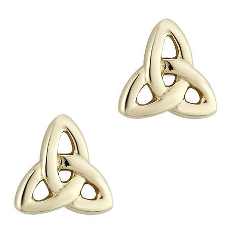 14k Yellow Gold Trinity Knot Earrings - Medium