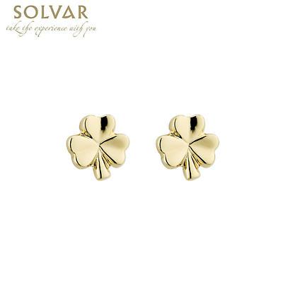 18k Gold Plated Shamrock Earrings