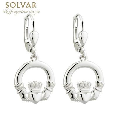 Sterling Silver Claddagh Drop Earrings