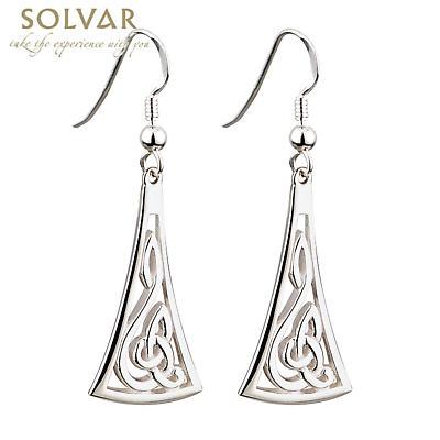 Celtic Earrings - Sterling Silver Long Celtic Earrings