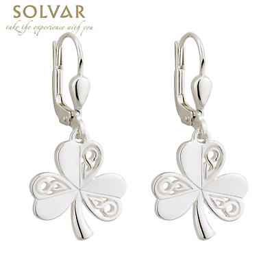 Sterling Silver Celtic Shamrock Earrings