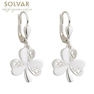 Sterling Silver Celtic Shamrock Earrings
