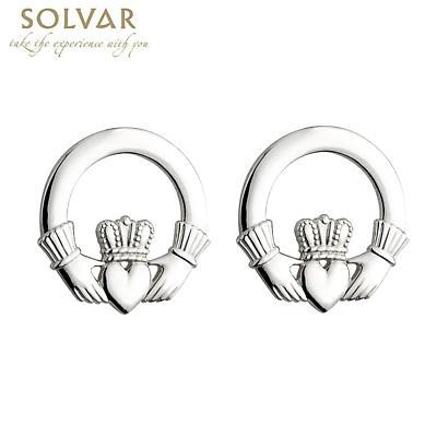 Sterling Silver Claddagh Earrings