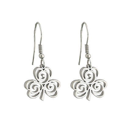 Celtic Earrings - Stainless Steel Celtic Shamrock Earrings