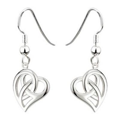 Celtic Earrings - Sterling Silver Celtic Heart Earrings