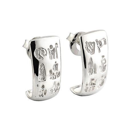 Irish Earrings - History of Ireland Sterling Silver Stud Earrings