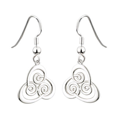 Celtic Earrings - Sterling Silver Spiral Earrings