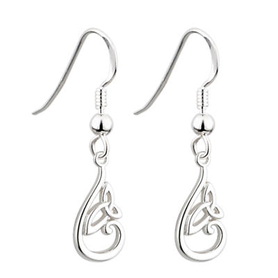Trinity Knot Earrings - Sterling Silver Trinity Knot