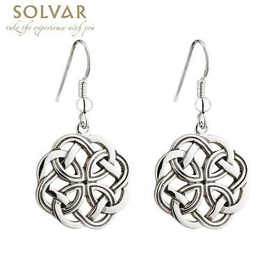 Celtic Earrings - Rhodium Plated Celtic Knot Drop Earrings