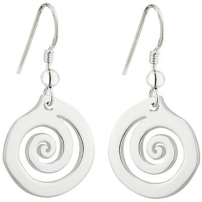 Celtic Earrings - Sterling Silver Celtic Swirl Drop Earrings