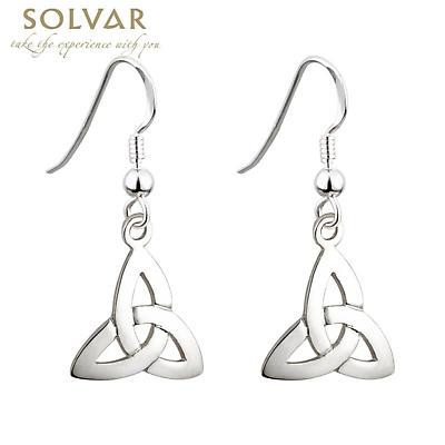 Celtic Earrings - Sterling Silver Trinity Knot Earrings